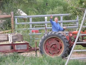 Greg on the Tractor